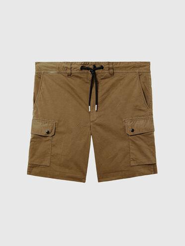 Stückgefärbte Cargo-Shorts