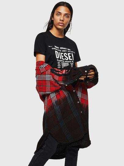 Diesel - T-SILY-ZF, Schwarz - T-Shirts - Image 4