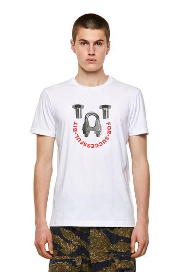 T-Shirt aus Baumwolle mit Eisenwarenprint