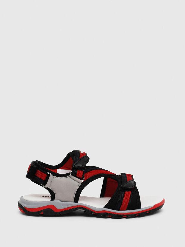 SA 07 STRIPE CH, Grau/Rot - Schuhe