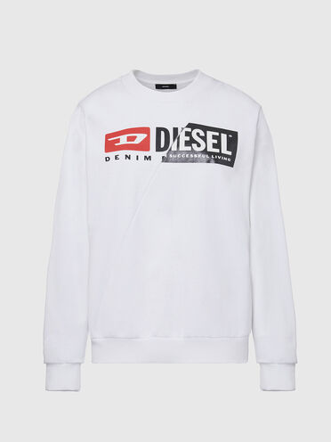 Sweatshirt aus Baumwolle mit kombinierten Logos