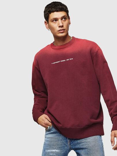 Diesel - S-BAY-SUN, Bordeauxrot - Sweatshirts - Image 1
