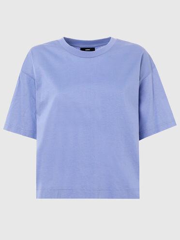 Kastenförmiges T-Shirt mit Reißverschlussdetail