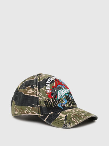 Basecap mit Tiger-Camouflage-Print