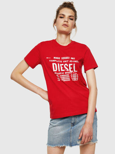 Diesel - T-SILY-ZF, Feuerrot - T-Shirts - Image 1