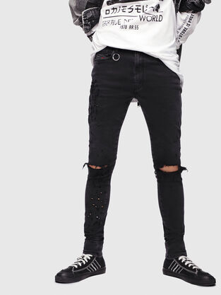 D-Istort 085AW, Schwarz/Dunkelgrau - Jeans