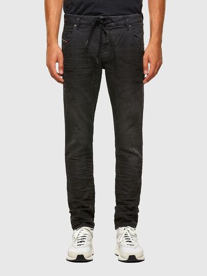 Diesel - KROOLEY JoggJeans® 069QL, Schwarz/Dunkelgrau - Jeans - Image 1