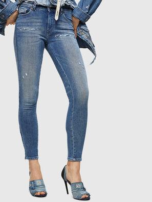 Slandy Zip 083AP, Mittelblau - Jeans