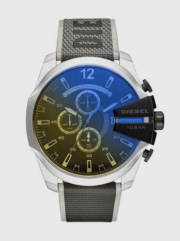 Mega Chief-Armbanduhr mit Chronograph-Anzeige und schwarzem Nylonarmband