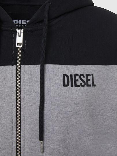 Diesel - UFLT-PHYLOSH-HOOD, Grau/Schwarz - Sweatshirts - Image 3