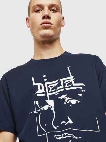 Diesel - T-JUST-J14, Blau/Weiß - T-Shirts - Image 3