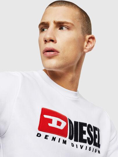 Diesel - S-GIR-DIVISION, Weiß - Sweatshirts - Image 3