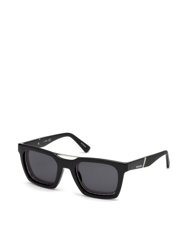 Diesel - DL0250, Brillantschwarz - Sonnenbrille - Image 4