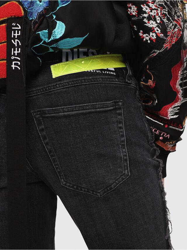 Diesel - Babhila 081AH, Schwarz/Dunkelgrau - Jeans - Image 4