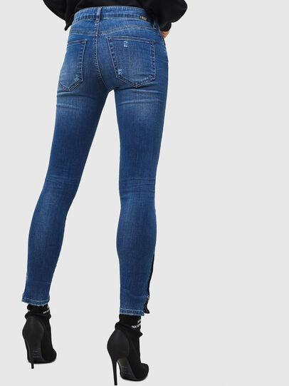 Diesel - Slandy Zip 089AI, Mittelblau - Jeans - Image 2