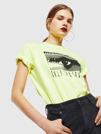 Diesel - T-DIEGO-J4, Neongelb - T-Shirts - Image 6
