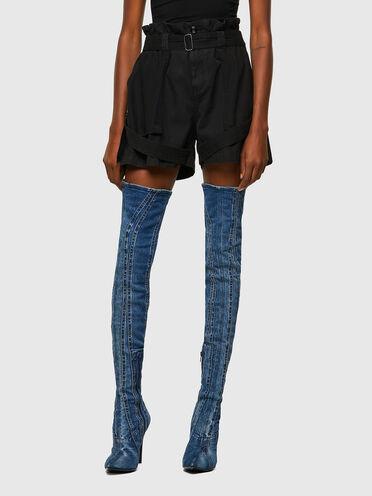 Cargo-Shorts aus Twill und Canvas mit Gürtel