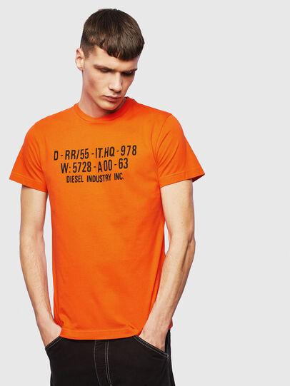 Diesel - T-DIEGO-S2, Orange - T-Shirts - Image 1