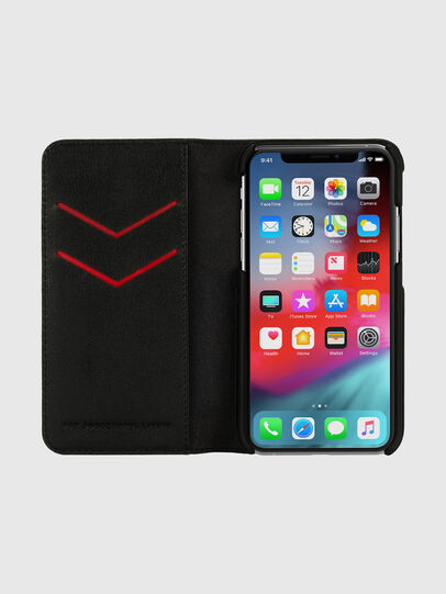 Diesel - DIESEL 2-IN-1 FOLIO CASE FOR IPHONE XS & IPHONE X, Schwarz/Weiß - Klappcover - Image 6