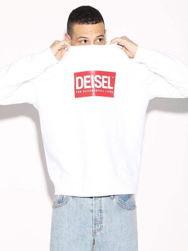 Diesel - DEIS-SGIRO, Weiß - Sweatshirts - Image 2