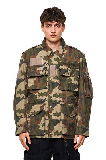 Camouflage-Jacke aus Baumwoll-Twill