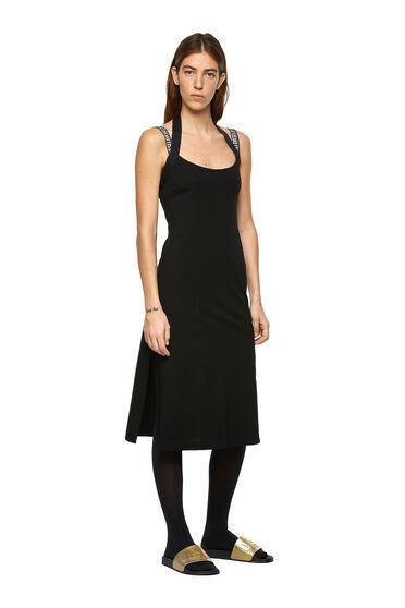 Neckholder-Kleid mit Logo-Trägern