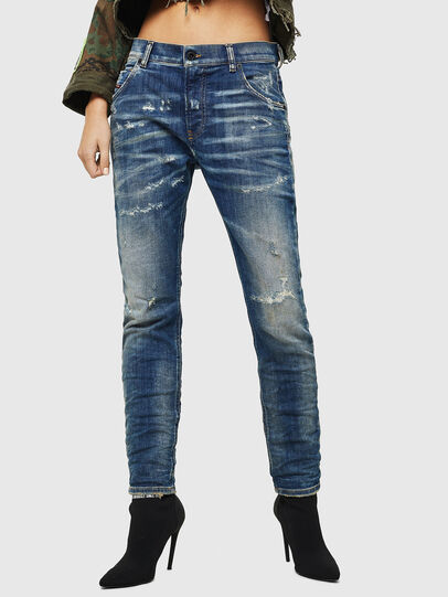 Diesel - Krailey JoggJeans 0870Q, Mittelblau - Jeans - Image 1