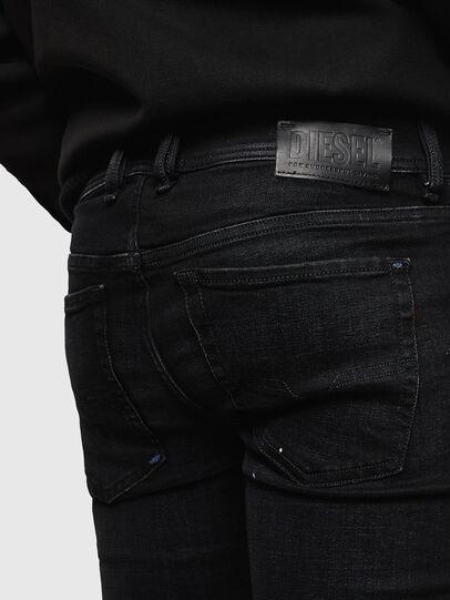 Diesel - Sleenker Zip 0093X, Schwarz/Dunkelgrau - Jeans - Image 6