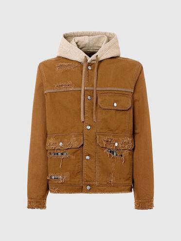Workwear-Jacke in Destroyed-Optik