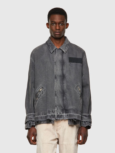 Stückgefärbte Jacke aus Bull Denim