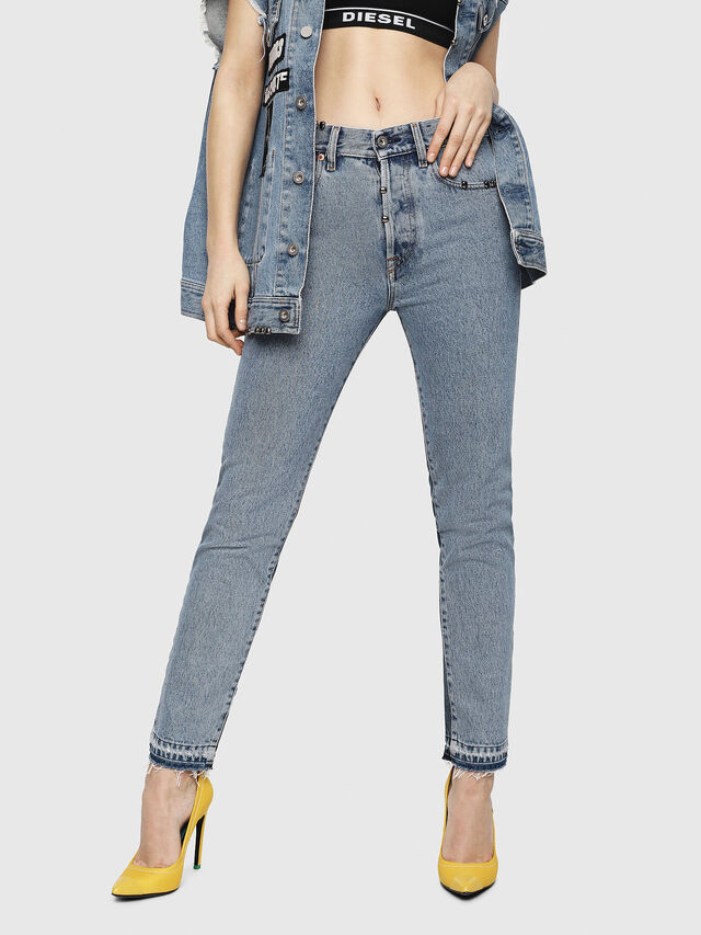 Diesel - Mharky 0077Z, Mittelblau - Jeans - Image 7