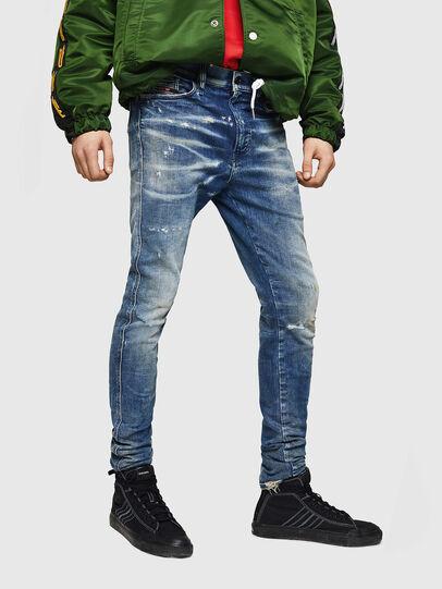 Diesel - D-Reeft JoggJeans 0870Q, Mittelblau - Jeans - Image 1