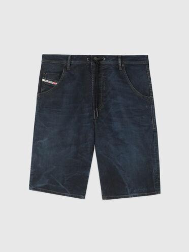 Shorts aus JoggJeans in Used-Optik