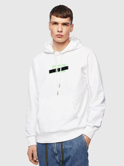 Diesel - S-GIRK-HOOD-S1, Weiß - Sweatshirts - Image 1