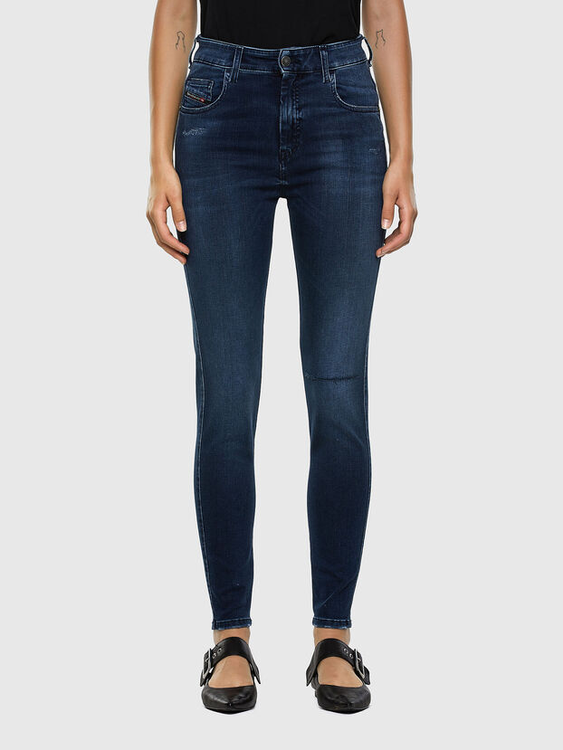 Slandy High 009LR, Mittelblau - Jeans