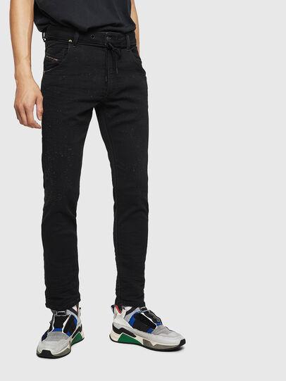 Diesel - Krooley JoggJeans 0092N, Schwarz/Dunkelgrau - Jeans - Image 1