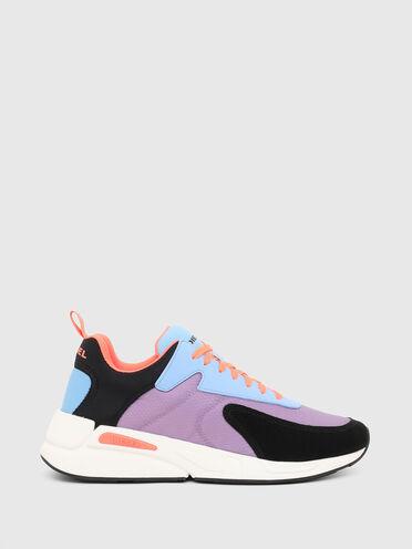Sneaker aus Ripstop-Nylon und Wildleder