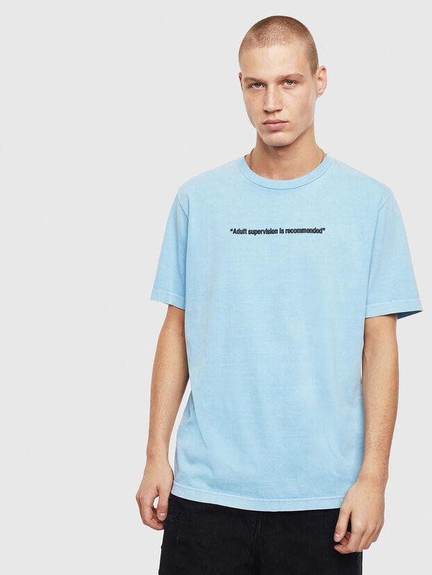 T-JUST-NEON, Azurblau - T-Shirts