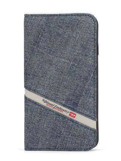 Diesel - DENIM IPHONE 8 PLUS/7 PLUS FOLIO, Jeansblau - Klappcover - Image 1