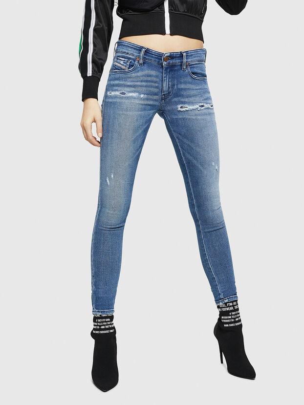 Slandy Low 083AP, Mittelblau - Jeans