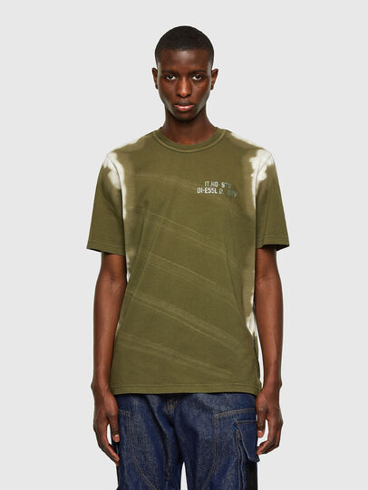 Diesel - T-JUBIND-SLITS-A3, Armeegrün - T-Shirts - Image 1