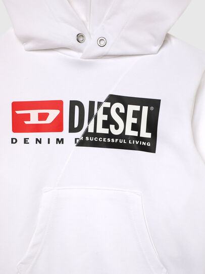Diesel - SGIRKHOODCUTYX OVER, Weiß - Sweatshirts - Image 3
