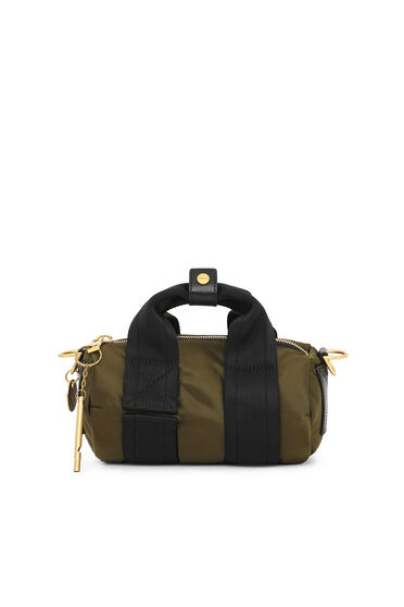 Zylindrische Crossbody-Tasche aus Nylon
