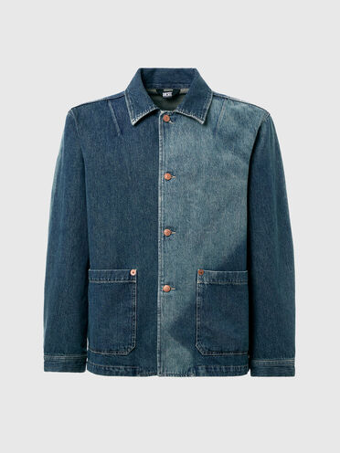 Jeansjacke mit ausgebleichten Details