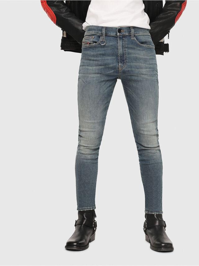 0676957ceab6 D-ISTORT 085AZ Herren: Skinny Jeans Mittelblau | Diesel