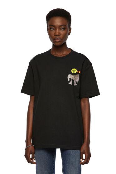 T-Shirt mit Emoji-Grafiken