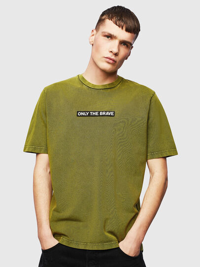 Diesel - T-JUST-SLITS-T15, Gelb - T-Shirts - Image 1