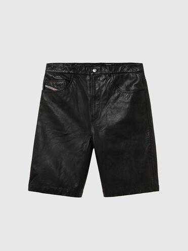 Five-Pocket-Shorts aus Leder