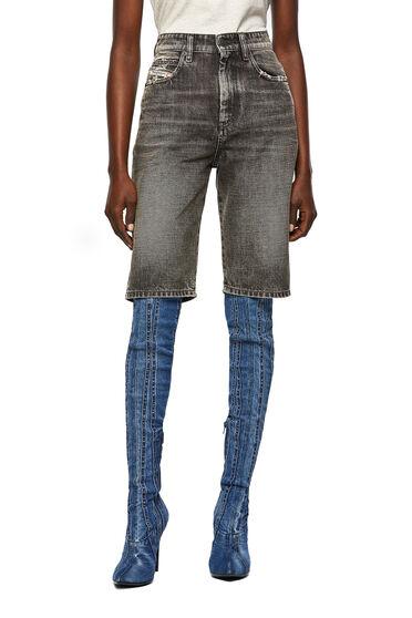Lange Shorts aus Stonewash-Denim