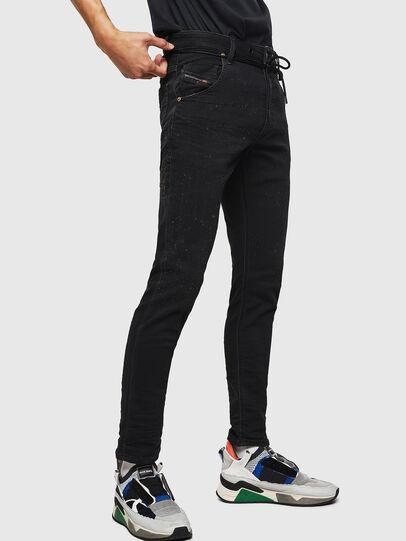 Diesel - Krooley JoggJeans 0092N, Schwarz/Dunkelgrau - Jeans - Image 5